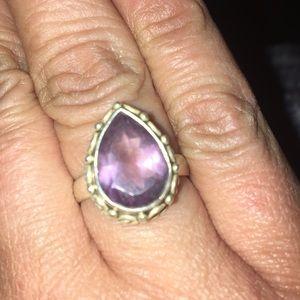 Jewelry - Sterling Silver Amethyst Teardrop Ring